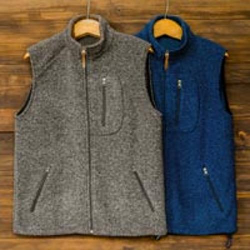 Mens Wool and Cotton Blend Zip Up Vest 'Treviso Trek'