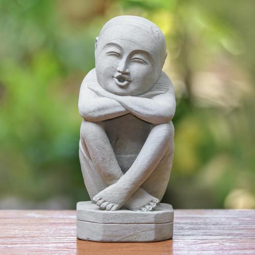 Unique Stone Sculpture 'Whistling Man'