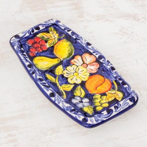 Ceramic serving plate 'Abundance'