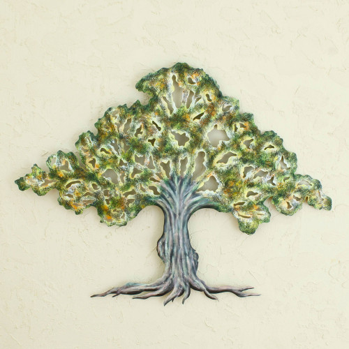 Collectible Mexican Steel Wall Art 'Tule Tree'