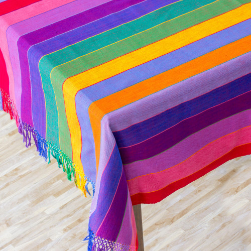 Cotton tablecloth 'Colors of Life'
