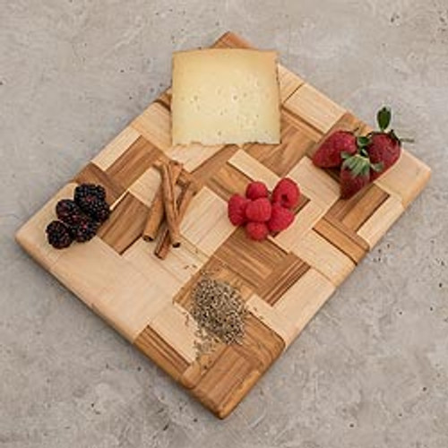 Wood Mosaic Cutting Board 'Puzzle'