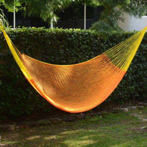 Nylon Rope Hammock in Daffodil and Tangerine Single Mexico 'Daffodil Dreams'