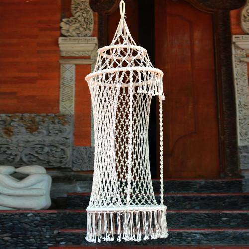 Handmade Cotton Rope Hammock Swing from Bali Single 'Sukawati Throne'