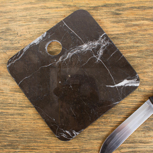 Square Black Marble Cheese or Chopping Board 'Plateau in Black'
