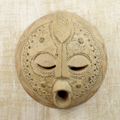Akan Wood Mask from Ghanaian Artisan 'Abundance'