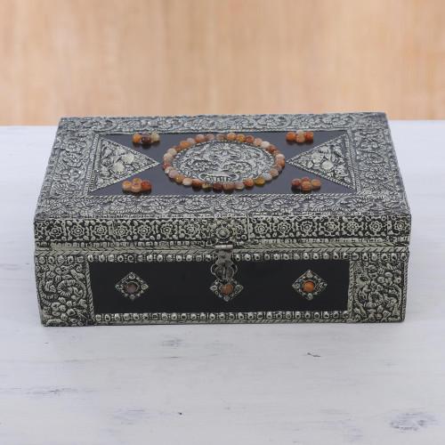 Hand Made Brass Repouss Jewelry Box 'Charisma'