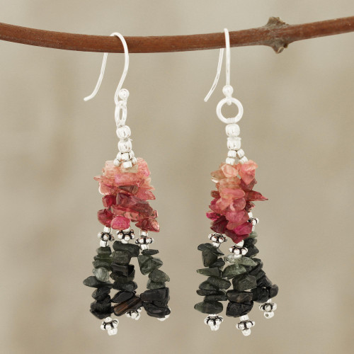 Multi-color Tourmaline and Sterling Silver Artisan Jewelry 'Rejoice'