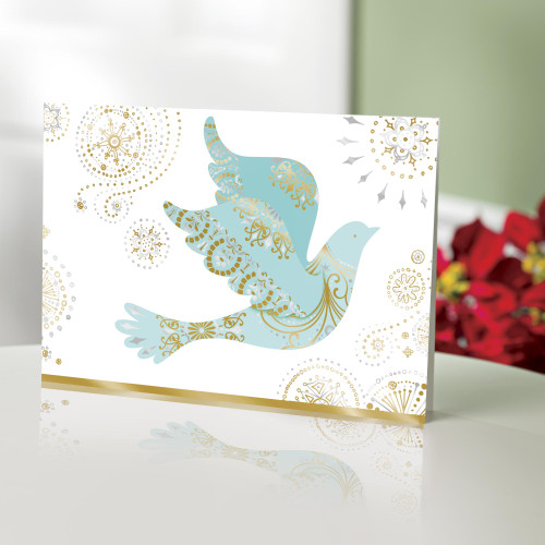 UNICEF Holiday cards, 'Dove with Swirls' set of 20 'Herald of Peace'