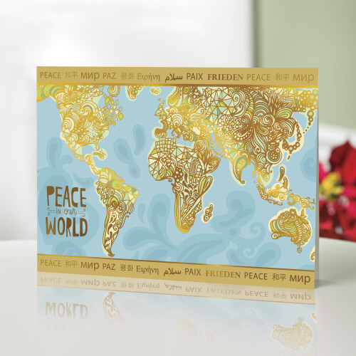 UNICEF Holiday Cards with Global Peace Theme set of 12 'Peace in Our World'