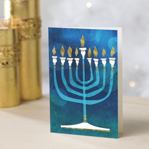 UNICEF Hanukkah Holiday Cards set of 12 'Hanukkah Lights'