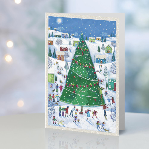 UNICEF Christmas Tree Holiday Cards set of 20 'Merry Moments'
