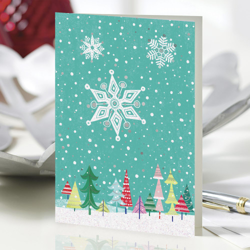 UNICEF Winter-Themed Holiday Cards set of 20 'Winter Wonders'