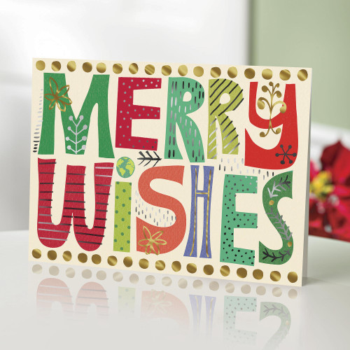 UNICEF Holiday Cards set of 20 'Wishes Upon Wishes'