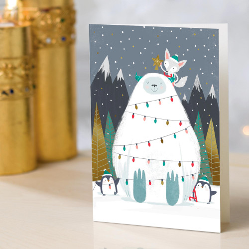 UNICEF Winter-Themed Holiday Cards set of 12 'For True Believers'