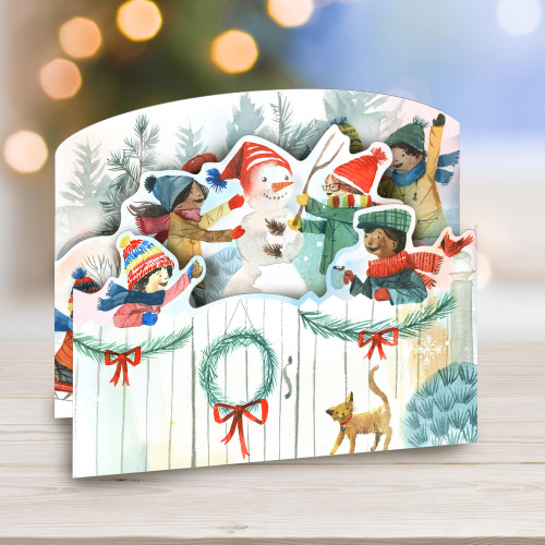 UNICEF Winter-Themed Holiday Cards set of 12 'A Flurry of Fun'