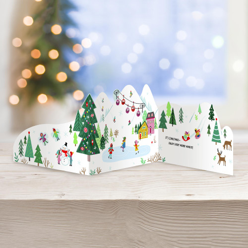 UNICEF Winter-Themed Holiday Cards set of 12 'High Upon the Mountain'