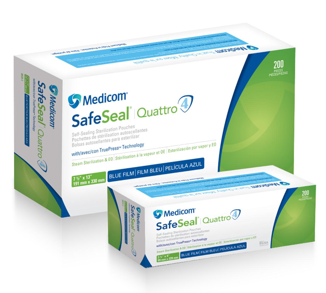 Medicom Safeseal Quattro Sterilization Pouches, 3 5