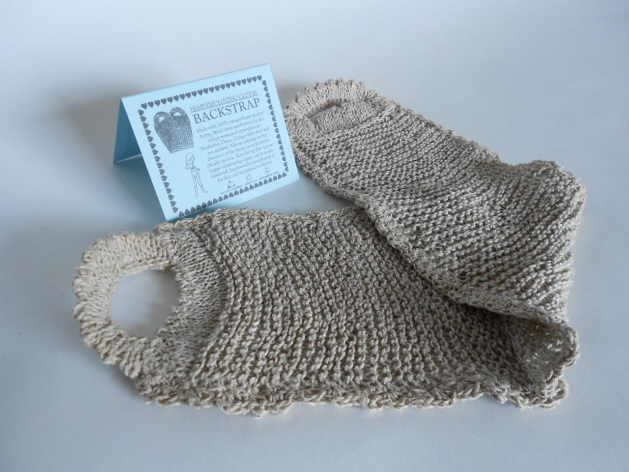 Hemp Exfoliating Back strap - Organic Fair trade