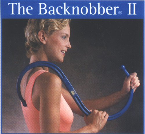 "Backnobber II travel feature is one of the best sellers.  4 Colors  Purple, Blue, Green and Black  Self Care Deep Tissue Massage Tool Use On The Entire Body - Small & Large People Relieve Muscular Pain That Comes from Stress, Injuries & Chronic Conditions Taken Apart For Easy Storage And Travel - Locks Together Securely Will Fit In A Normal Size Briefcase Or Overnight Bag Instructional Booklet Included  The Original Backnobber II is the latest self care deep muscle massage tool of The Pressure Positive Company. It responds to everyone's desire to live happily and pain-free. When it is used as intended, The Original Backnobber II can relieve the muscular pain that comes from physical and occupational stress, injuries, and chronic conditions such as arthritis and bursitis. This deep-muscle massage tool allows people to manage chronic muscular pain both on their own and in conjunction with professional medical treatment and therapy. The Original Backnobber II is made of a highly durable polymer composite, molded in the shape of an S. The Original Backnobber II device is designed to be hooked over the shoulder or under the arm so that one of the two ends can be pressed into any of the muscles of the upper or lower back or neck. The Original Backnobber II's natural shape and dimension allow the user to apply as much back pain releasing pressure for as long as required to achieve its remarkable effects.  The Original Backnobber II is designed to be used comfortably by both large and smaller individuals. It is also equipped with a locking mechanism that allows it to be taken apart for convenient storage or travel. It will easily fit into a normal size briefcase or overnight bag. It is ideal for travelers, sports enthusiasts, and others on the go.  CAUTION: There are many conditions that will not respond to conservative, non-invasive treatment. Individuals with serious underlying injuries or illness should not postpone proper medical treatment in such conditions. If pain persists, if other symptoms appear and when in doubt, consult your physician.   'It's very easy to use and the ""s"" shape of the design allows you to put pressure on the right spot to work on. The booklet that comes with it shows you several variations on use. I've found that by using it while lying down you can use the bed/floor as a fulcrum and your bodies own weight to apply correct amount of pressure. I've use this while sitting or standing. The product also comes apart easily into two pieces that fit nicely into a backpack. I take it between the office and home. One trick I've discovered is to shake it while you are applying pressure or rotate it so that the point of pressure moves, this is great when working with spots near your shoulder blades for the back the shaking and fulcrum work really well. The product is made of some sort of high impact plastic it is very hard and rugged and has lasted traveling in luggage and such for several years now. I highly recommend this product for everyone and would make a perfect gift as well. Try it and you'll agree that it is the best money you've spent in a long time!'"