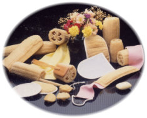organic raw loofa fair trade natural skin health buffing tools wonderful for the body feels great