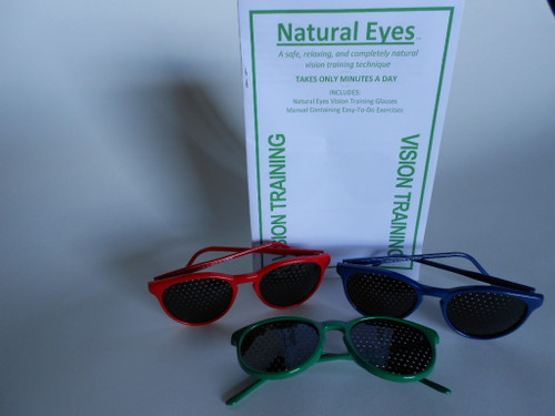 red greenThe new smaller cute Red, Green and Navy frames are new.  Natural Eyes pinhole glasses and vision program is for anyone whose vision has weakened or if your are a corrective lens user.  You must be aware of the importance of clear vision and healthy eyes.  Vision is in fact major link between the brain and the outside world.  Because more than 80% of all experience comes through the eyes, vision is the key to reading, education and a better life.or navy frames
