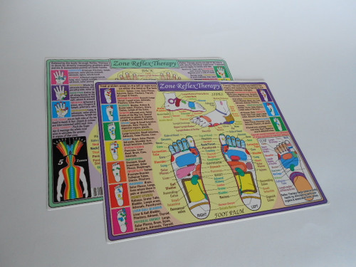 4 color charts double sides for health well being spa treatments hands and feet