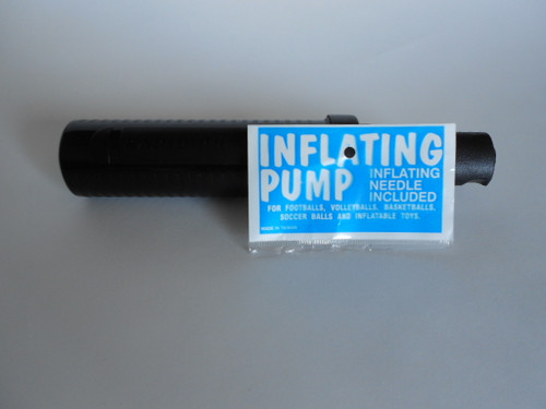 The Fit ball Pump is for the Fit balls and for the Disco Seating Disc. It comes bagged and has a needle and is a hand pump. You can take this with you and is very durable.