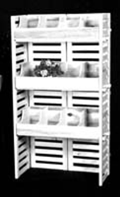 Body Tools Sales Bin is beautiful unfinished pine, very strong and sturdy.  Included are three shelves and four compartment bins.  Perfect to show off your massage tools and keep them organized. Comes in 2 boxes and can be taken on the road.