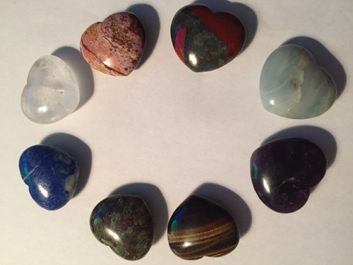 Comes in also rose quartz pink  lapis lazulli blue  clear quartz  Amazonianite purple and green  tigers eye gold and brown  amethyst purple  ocean jasper rose tones  blood jasper red and green tones  From all over the world  and blessed