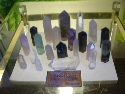florite, quartz, rose quartz, amethyst AAA quality point individually packed
