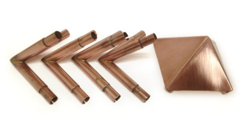Copper Pyramid Connectors, Capstone, crystal