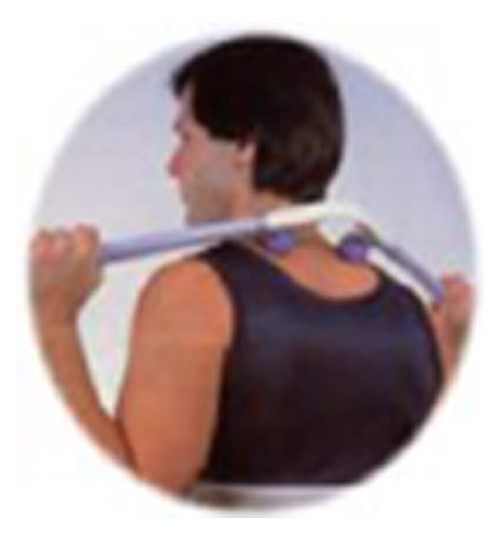 Brings quick relief to tired, aching back, neck, and shoulder muscles! Helps to rejuvenate and revitalize muscle tone and stimulate body's energy by pressing  A cu-Pressure points as in Shiatsu-like massage.  32 inches long, black and red.   The balls adjust to three widths.  Comes in a clam shell  package. Acu-Masseur has millions of satisfied customers worldwide!!