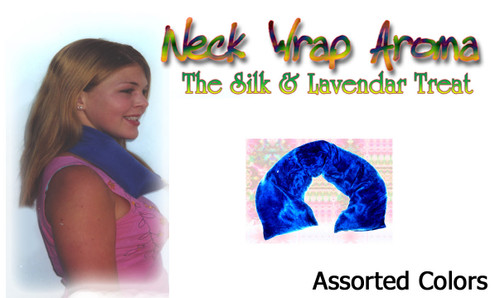 The Wrap aroma Neck Pillow is a longer Organic version of the Sleep Inducer. The longer design allows wrapping around the neck or any other sore spot for soothing relief. Filled with Organic lavender and millet.  COMES BAGGED WITH 4 COLOR HEADER CARD