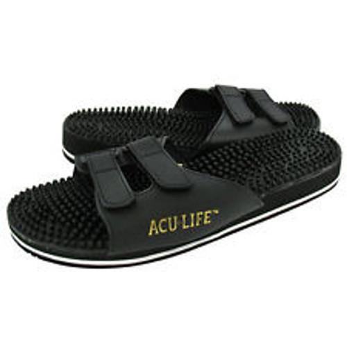 Acu Life  Reflexology Sandals  black  VELCRO STRAP ONLY