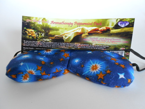 """Our original pillow, still our most popular.  Gently comforts the eyes to relieve tension promote rest. Flax seed fill. 4""""x 5""""x 8.5"""" about 7 oz. HAS A SMALL STRAP   Bagged with header card"""