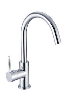 Curved Neck Pin Handle Kitchen Mixer