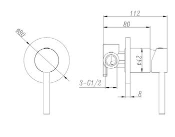 Black Pin Handle Mixer - STAR