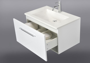 Wall hung vanity unit 900mm wide with single drawer