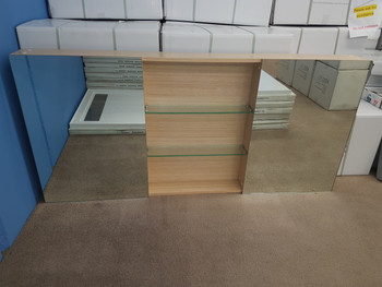 Timber Veneer Shaving Cabinet (display model) (free shipping not included for this item)