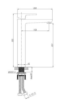 Chrome Tall Basin Mixer