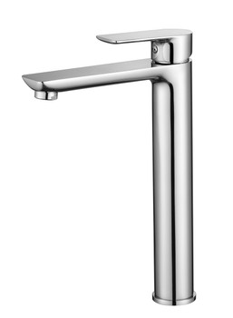 Chrome Tall tap with soft square lines