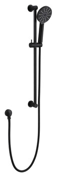 Rail + Hand Shower Set - Black Matt