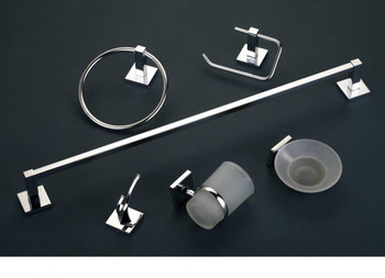 Bathroom Accessories Set |  LYRA Chrome 6 piece Set