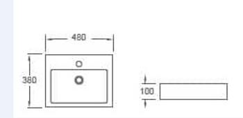 Rectangular Counter Top Basin