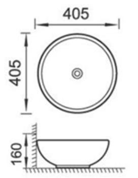Round White Above Counter basin