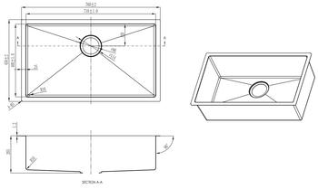 Single Bowl Kitchen Sink - Luxury Size