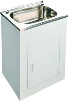 Laundry trough cabinet