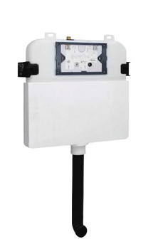 R & T Inwall Cistern with black and square push buttons G30032