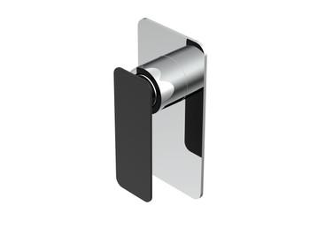 NEW TO AUSTRALIA:  Designer Shower Mixer - Matt Black electroplated handle and Chrome Rectangle Back Plate